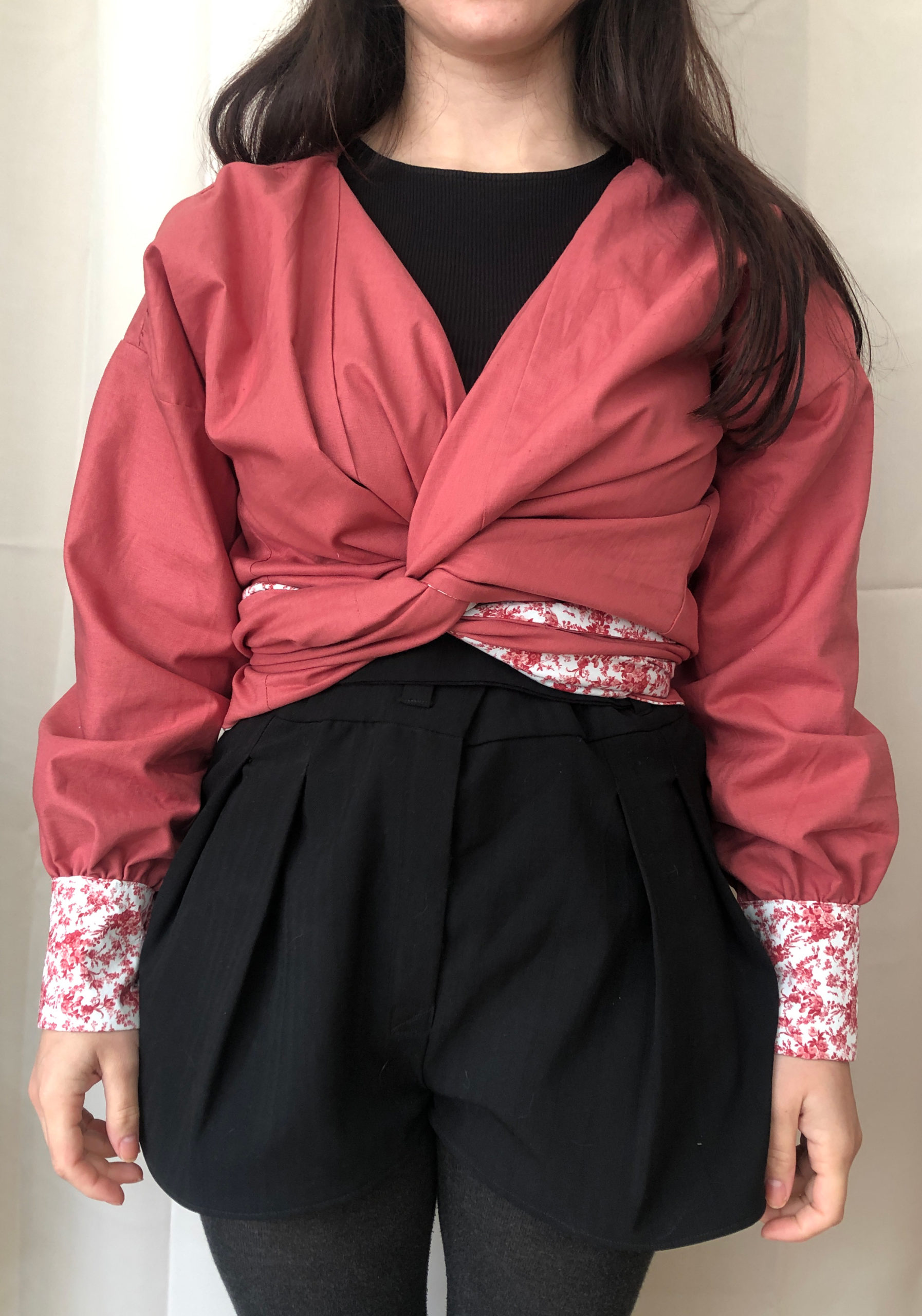 blouse croisé réversible fabriqué en France