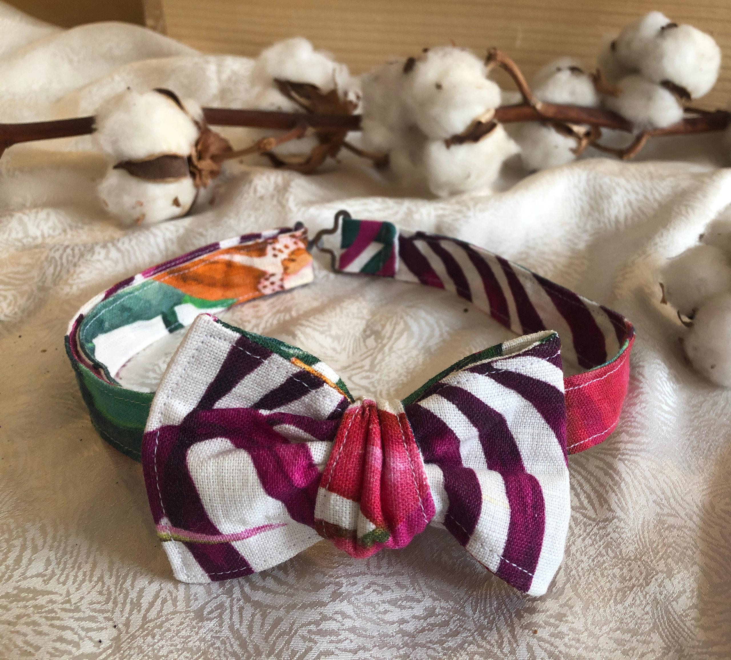 Nœud papillon motif fabriqué en France