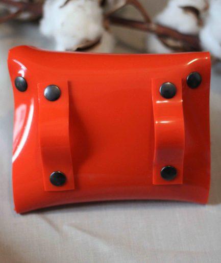 Sac ceinture PVC upcyclé corail fabriqué à Lyon